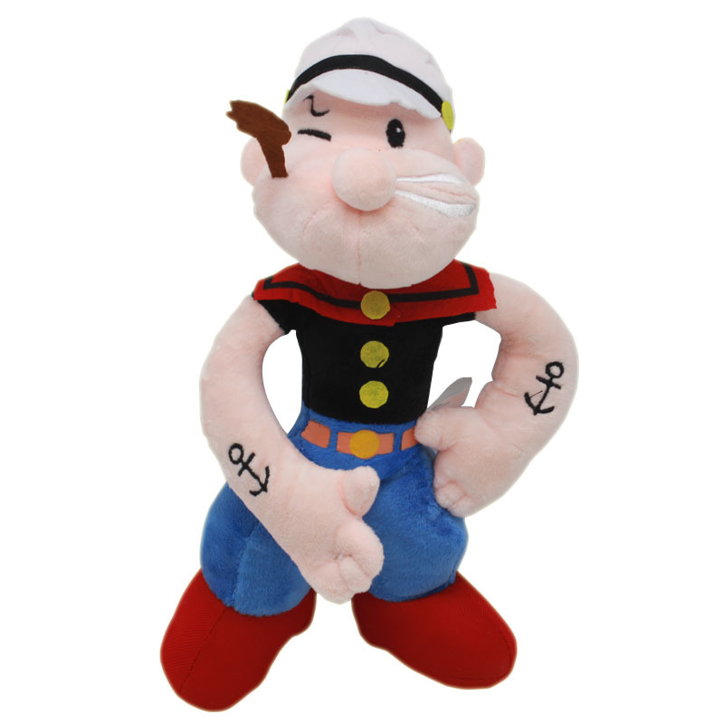 40cm Popeye Seaman Muscle Sailor Doll Plush Toys Soft Stuffed for Children Gifts