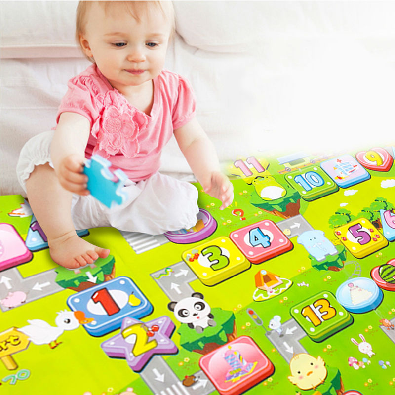 Crawling Pad PE Cotton Waterproof Fruit Letter Kids Play Game Mat Multi-color Kids Toys Crawling Pad 180x 150cm ...