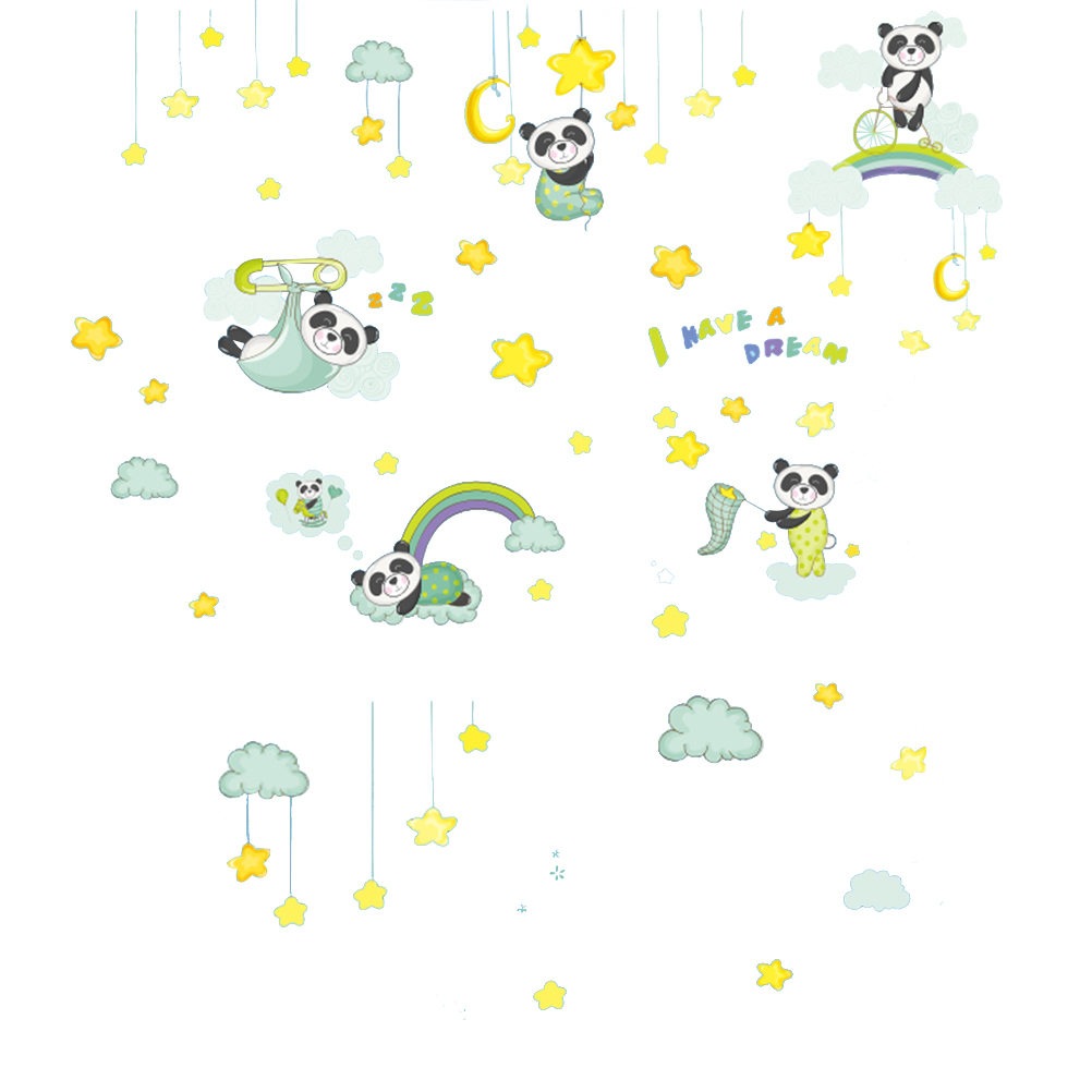 US $3 95 OFF Creative DIY Decal Cartoon Cute Panda Wall Stickers Adhesive Wallpaper For Bedroom Living Room Home Decor Wall Stickers AliExpress