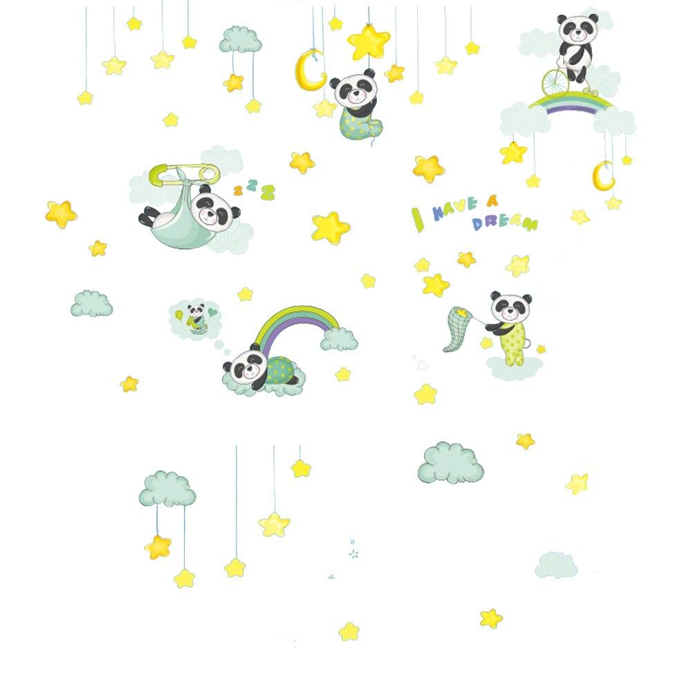 US $3 95 OFF Creative DIY Stiker Kartun Lucu Panda Stiker Dinding Perekat Wallpaper Untuk Kamar Tidur Ruang Tamu Dekorasi Rumah Wall Stickers