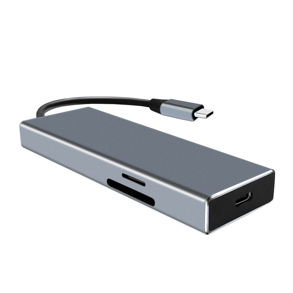 Image 2 - jincomso USB 3.1 Type C HUB 7 in 1 Thunderbolt 3 Type C Adapter Dock 3 USB 3.1Port 4K HDMI 1080P SD For Macbook Pro-in USB Hubs from Computer & Office