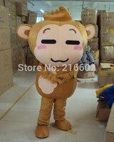 Высококачественные маскарадные костюмы обезьяна Маскоты костюм оптовая животных Костюм Бесплатная доставка