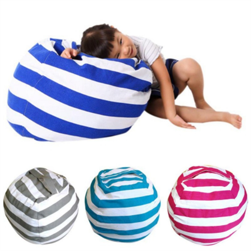 18/24/26 inch Storage Stuffed Animal Storage Bean Bag Portable Kids baby Multifunction Toy Cloth Storage Family Play Mats