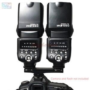 Image 2 - Dual Hot Shoe Sync TTL Off Camera Arm Bracket Splitter Trigger for Nikon D7500 D7200 D800 D600 SB910 SB900 SB 5000 SB700 SB 500