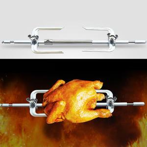 Roaster-Rack Fork Cook-Utensils Chicken-Grill Oven-Accessories Barbecue-Tools Stainless-Steel