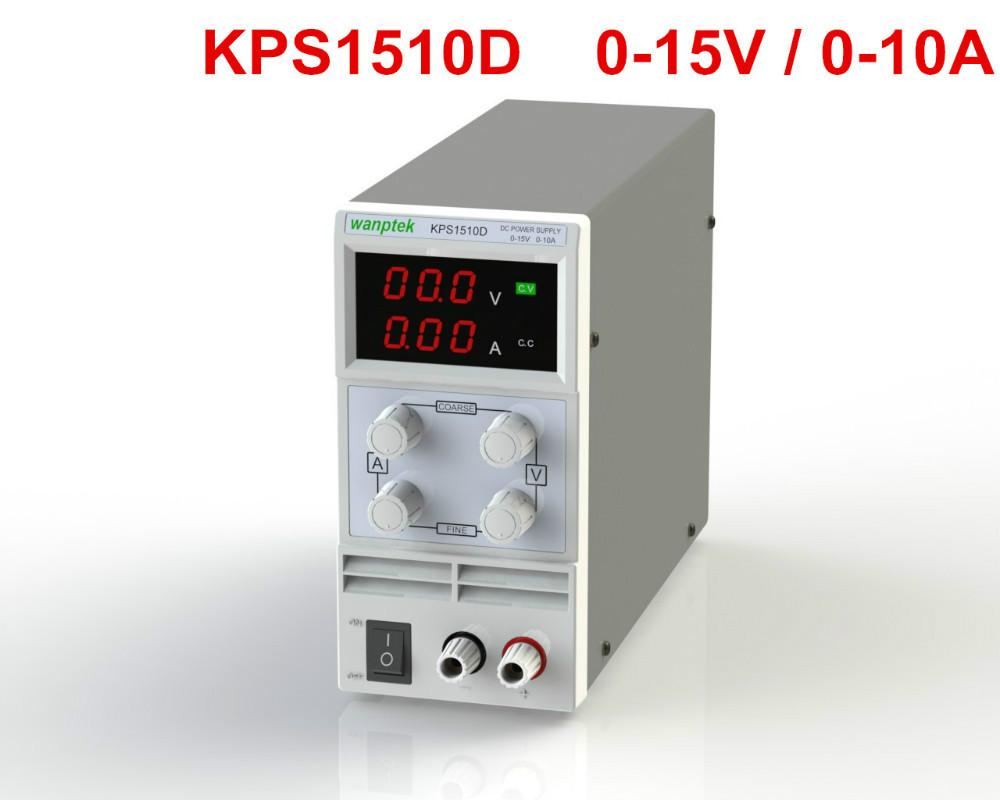 ФОТО KPS-1510d MINI 15V10A 5a 110V-230V 00.1V/0.0001A EU LED Digital Adjustable Switch DC Power Supply mA display