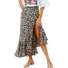 67aaec73322 Las mujeres leopardo impresión de alta cintura Sexy dama moda cóctel Club