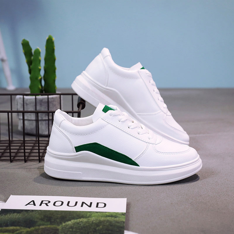 Cuir Été Sneakers Casual Femmes Femme Mujer Gray Couleur green Nouvelle En Mode Zapatillas Incendies Blanc Chaussures Deportivas pink 2018 Pu 8nN0vmw