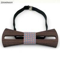 Do sexo feminino casual bow tie bowtie designer de mariage mulheres gravata de madeira de madeira do casamento do homem papillon gravata masculina gravata 3 cores