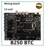 NEW B250 BTC Mainboard LGA1151 CPU DDR4 Memory 12 Card USB3.0 Expansion Adapter Desktop Computer Motherboard