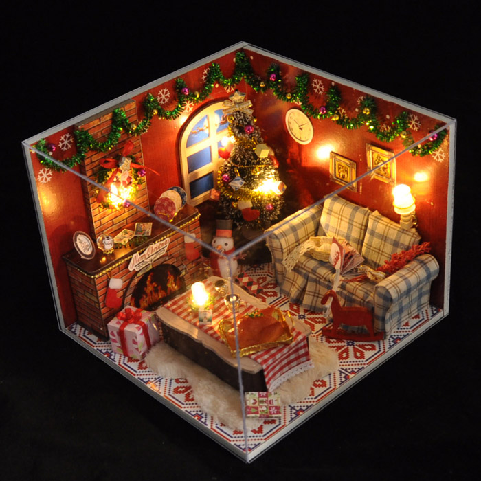 Expressive 2018 Hot Diy Birthday/valentine/christmas Gifts Miniature Furnitures Model Kits 3d Assemble Toys Creative Diary Dollhouse Big Clearance Sale Model Building