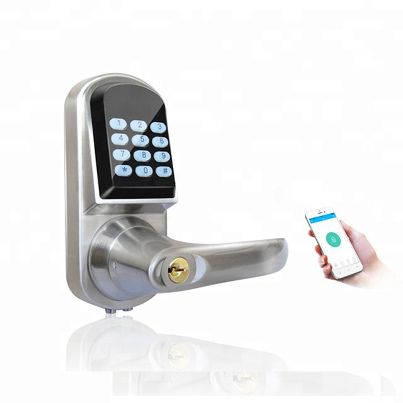 Serrure de porte intelligente cylindre télécommandes électriques Code clavier serrure à pêne dormant sécurité sans clé Mobile APP contrôle numérique z-wave serrure de porte