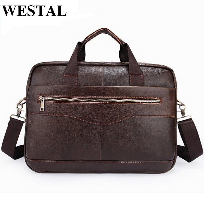 WESTAL Genuine Leather Men Bags New Man Briefcase Laptop Handbag Messenger Bag Men's Business Bags Male Crossbody Handbags 1118 mva genuine leather men bags new man briefcase laptop handbag messenger bag men s business bags male crossbody handbags