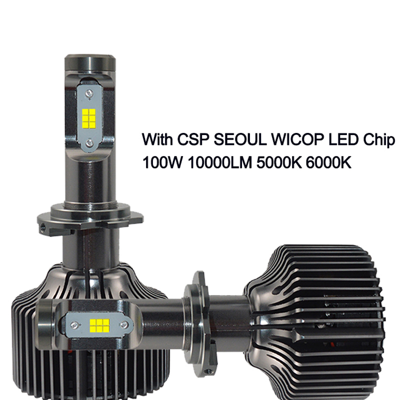 SAFEVIEW bright led auto lamp h7 50W 10000LM 6000K 12V with csp seoul wicop chip refit car headlight lamp auto lighting bulb дефлектор auto h k gt 36964