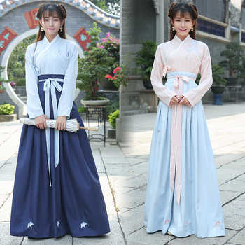 Chinese Traditional Hanfu Cosplay Costume Ancient Han Dynasty Stduent Stage Show Dress Chinese Folk Dance Outfit Tang Dynasty - DISCOUNT ITEM  48% OFF All Category