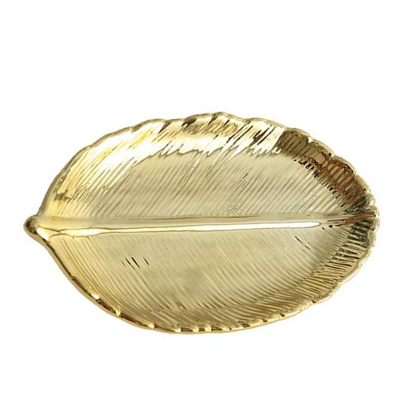 Stile nordico Oro Ananas Frutta Dolce Dei Monili del Piatto di Modo Geometrica Tavolo Da Pranzo di Stoccaggio Vassoio Foglia Mestieri Della Decorazione Della Decorazione
