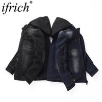 Denim Jacket Men Plus Size 3XL 2019 New Arrival Denim Man Outerwear Casual Denim Blue /Black Jacket Men Coat Japanese Streetwear