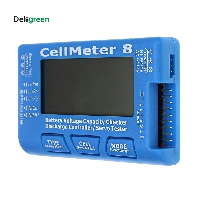 AOK CellMeter 8 sin fondo o descarga multifuncional Digital Power Servo Checker Tester 2 S-8 S 8 M