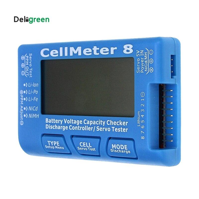 купить AOK CellMeter 8 without background light or Discharge Multifunctional Digital Power Servo Checker Tester 2S-8S 8M недорого