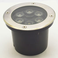 Ip68 Ac85~265v/12v/24v 6w Underground Light, Led Deck Light, Led Inground Light Warm White/white/red/gree/blue/rgb