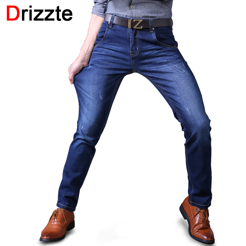 Drizzte Mens Stretch Jeans Black Blue Soft Denim Trendy Designer Slim Fit Jean Jeans Size 30 32 33 34 36 38 40 Sale Casual