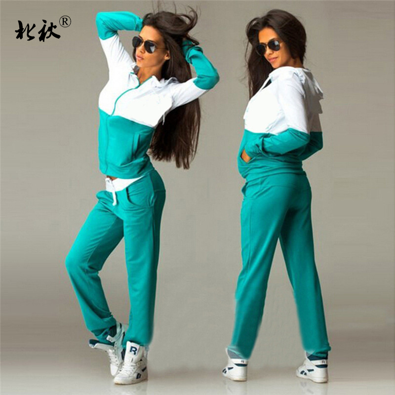 Women's Sports Suits Sexy Tracksuit 2 Piece Set Women Sportswear Jogging Track Suit Women Sport Set Two Piece Set Women 2018