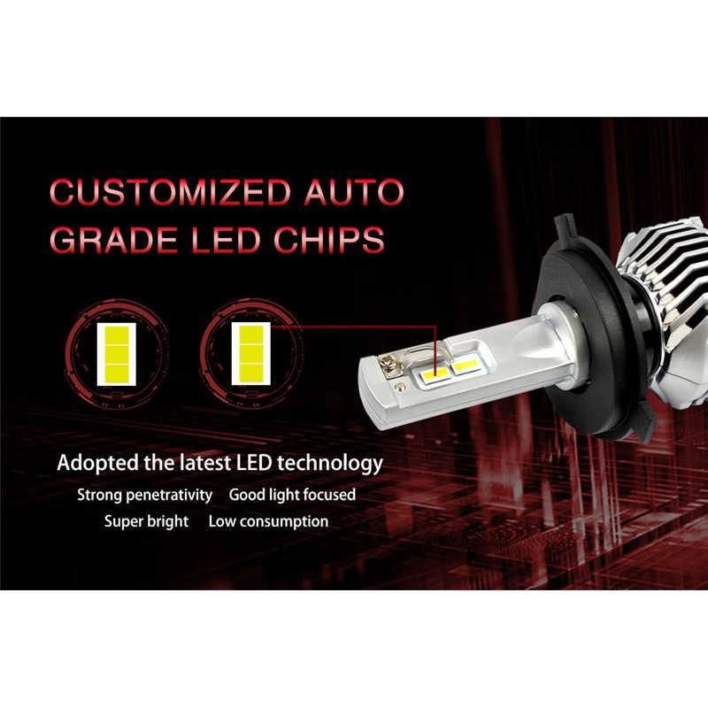 Essgoo LED H4 H7 H11 Xe Ánh Sáng 80 W 14400LM Đèn Pha D1 D2 D3 D4 5202 9012 P13W PSX24W PSX26W bóng Đèn tự động 12 V Đèn 6000 K Đèn Pha