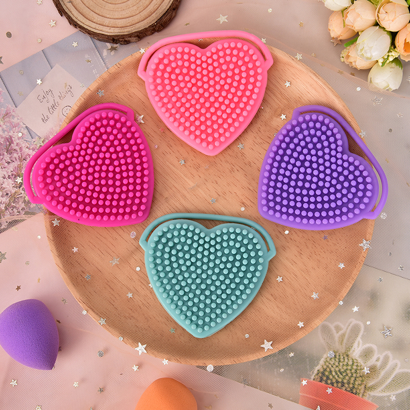 Beauty & Health 1 Pcs Soft Silicone Heart Facial Cleansing Brush Remover Skin Spa Scrub Pad Tool Face Washing Exfoliating Blackhead Brush Aromatic Character And Agreeable Taste