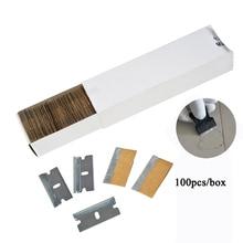 "EHDIS 100x1.5"" Edged Carbon Steel Razor Blades For Automotive Glue Scraper Ceramic Oven Glass Clean Shovel Sticker Accessories"