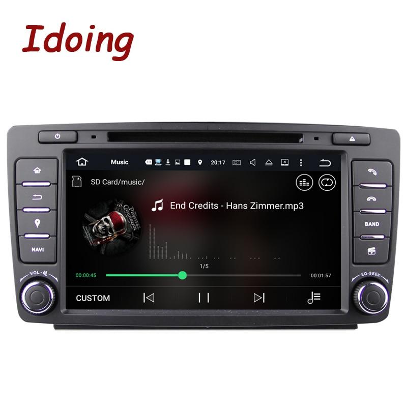 Idoing 2Din Steering Wheel Car DVD Multimedia Video Player For Skoda Octavia 2 Android7 1Car GPS