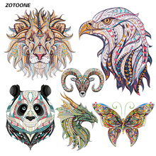 ZOTOONE Iron on Transfer Patches for Clothing Cute Cartoon Animal Set Beaded Applique T Shirt Clothes Decoration DIY Kids Gift G