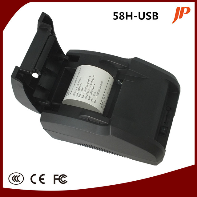 Free shipping black USB Port 58mm thermal Receipt pirnter POS printer low noise.printer thermal