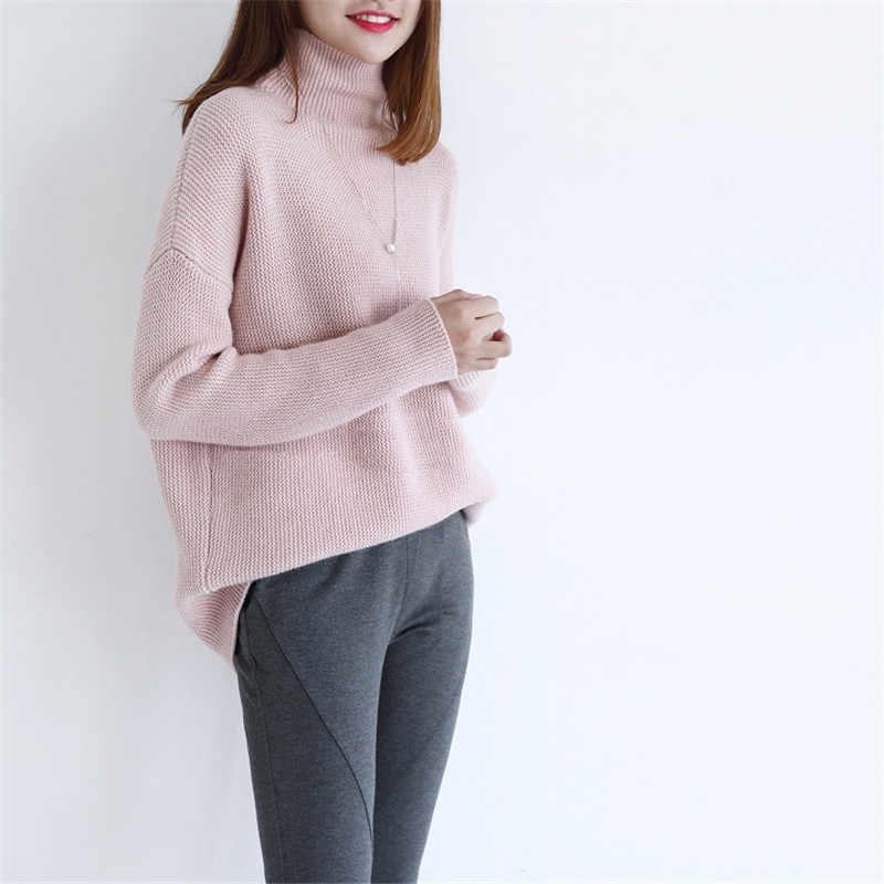 2018 new sweater women pure cashmere pullover loose version type female casual warm sweater winter thick pullover