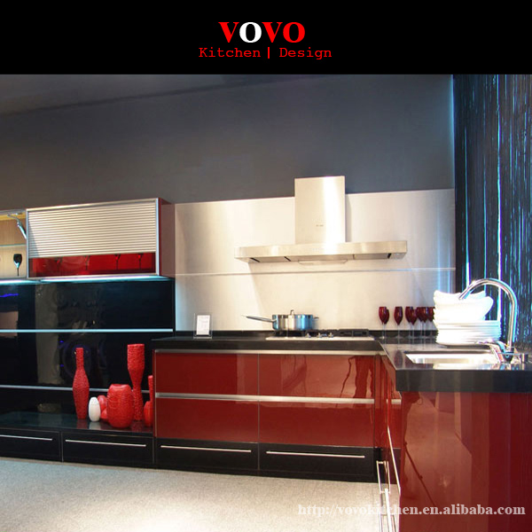Aliexpress.com : Buy High gloss red lacquer kitchen ...