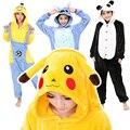 Onesie Animal Dos Desenhos Animados Pijamas Onesies Adulto Pijamas Mulheres Unisex Pikachu Ponto Panda Anime Cosplay Pijama Assecla