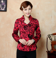 Free Shipping Autumn Winter Chinese Tradition Women's Satin SIlk Pyrographic Jacket Coat M L XL XXL 3XL 4XL LJ11201