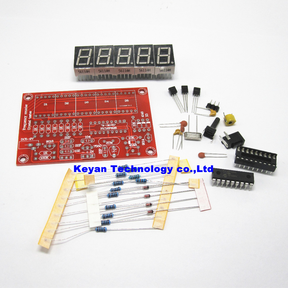 DIY Kits RF 1Hz-50MHz Crystal Oscillator Frequency Counter Meter Digital LED tester meter