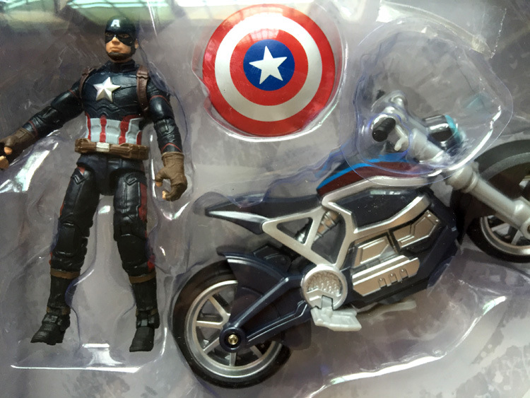 The Marvel Avengers Figure super hero Captain America 3 Civil War models chariot motorcycle doll action figures kids toys gifts