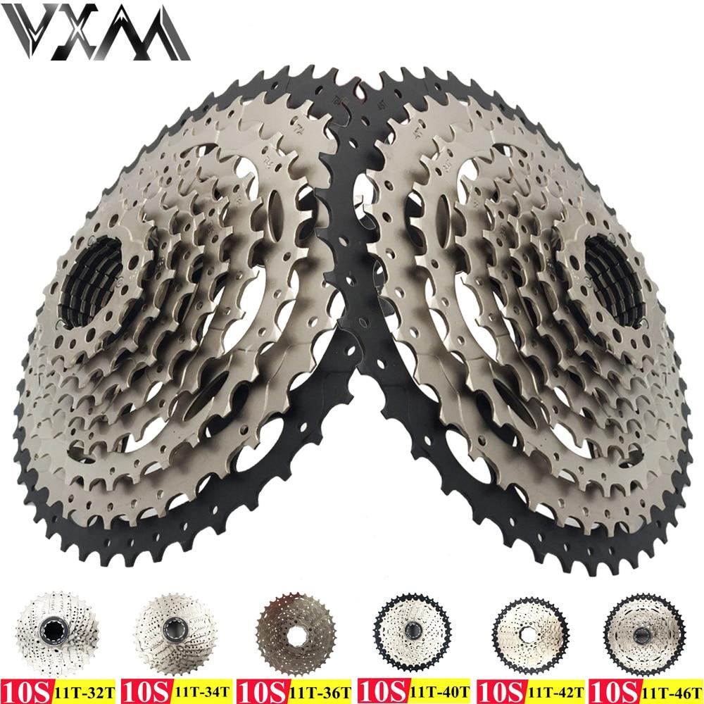 VXM Bicycle Freewheel 10 Speeds Mountain Bike Flywheel 11-40T Teeth Crankset Gear MTB Bike Cassette Flywheel Bicycle Parts
