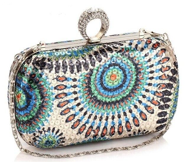 Best Price Women's Dazzling Sequins Finger Evening Bag, Beaded Sequin Clutch Bags, OL Business Dinner Clutch Bag 5Color NO3008