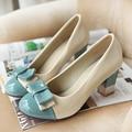 Sapatos femininos primavera arco grossos sapatos de salto alto-sapatos mais sapatos de salto alto boca rasa sapatos único