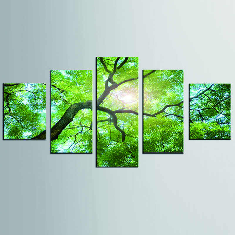 HD Print Sunny Tree 5 picture drawing wall art room decoration print poster picture canvas free shipping /DC1-100 (5)