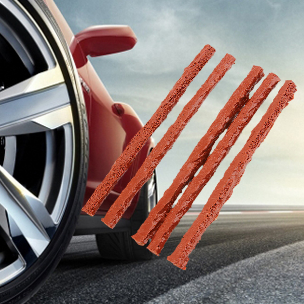 Hot 25 Pcs /Set Car Auto Motorcycle Tubeless Tires Wheel Repair Strip Puncture Vehicles Tire Bike Scooter Rubber Seal Tools