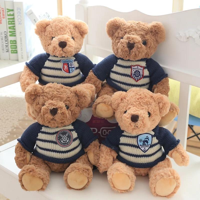2016 cute teddy bear dressed dolls, teddy bears plush toys, dolls bear hug, Child / female birthday gift cute teddy bear plush dolls