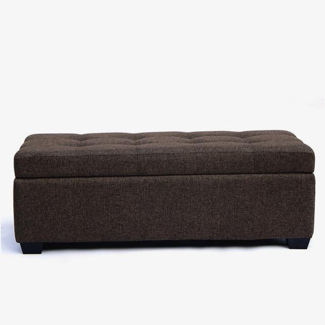 European style large storage stool clothing store sofa stool solid ...