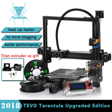 2018 Hot TEVO Tarantula I3 Aluminium Extrusion 3D Printer kit 3D printing 2 Rolls Filament SD card LCD As Gift 3D printer kit