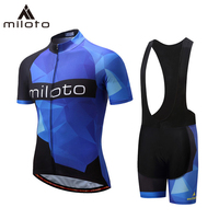 MILOTO Cycling Jersey Set Summer Men Cycling set Racing Bicycle Clothing Suit Breathable triathlon Riding Mountain Bike Clothes
