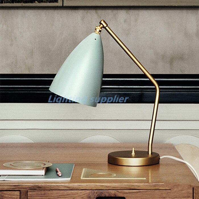 Книга света Гроссман Кузнечик настольная лампа Nordic Медь настольная лампа исследование лампа классический архитектор настольная свет отел