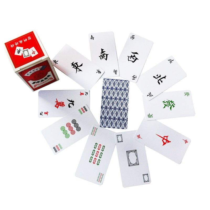 Plastični mahjong poker z dvema kockama za igranje - Razvedrilne