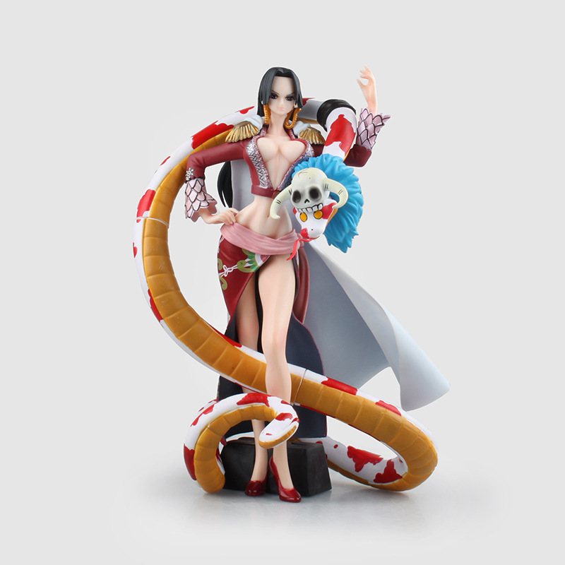 цены  Anime One Piece SQ Boa Hancock & Salome Figuarts with Snake Sexy PVC Action Figure Collectible Model Toys Doll 23cm